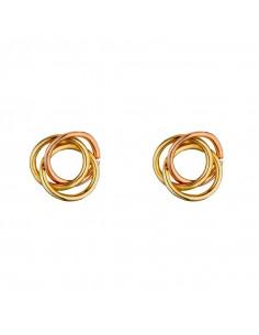 Boucle D'Oreilles Instant d'or créoles Océan Or Blanc 375/1000 Zirconium