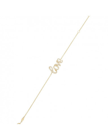 Bracelet Instant d'or bracelet Harmonie Or Tricolore 375/1000 Zirconium