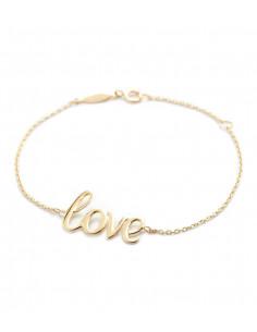 Bracelet Instant d'or bracelet Love Is In The Air Or Blanc 375/1000 Zirconium