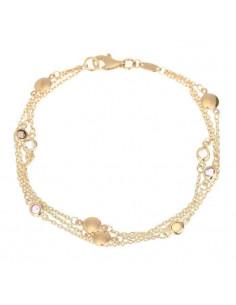 Bracelet Instant d'or bracelet Love Is In The Air Or Jaune 375/1000 Zirconium