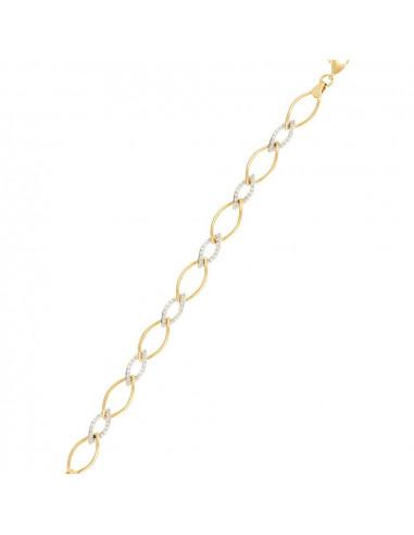 Bracelet Instant d'or bracelet Or Blanc 375/1000 Zirconium