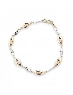 Bracelet Instant d'or bracelet Reconnaissance Or Bicolore 375/1000 Zirconium