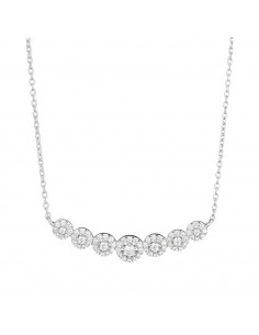 Collier Instant d'or arpaga Or Rose 375/1000 Zirconium