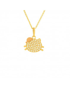 Pendentif Instant d'or Bonheur Perle Blanche Or Jaune 375/1000 Perle et Zirconium