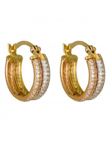 Boucles d'oreilles Instant d'or Noeud Or Tricolore 375/1000