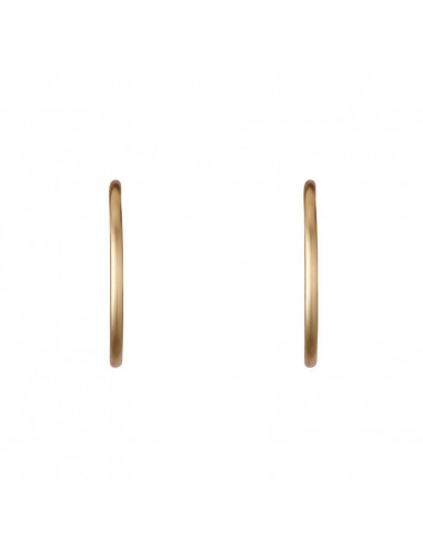 Boucle D'Oreilles Instant d'or créoles Distinction 30 Mm Or Jaune 375/1000