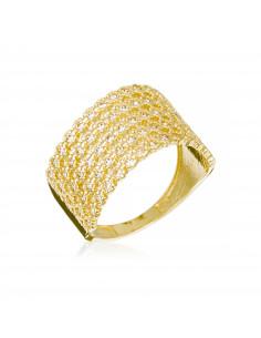Bague Instant d'or Précieuse Or Jaune 375/1000 Zirconium