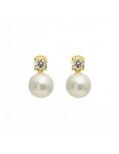Boucle D'Oreilles Instant d'or anastasia Perle Blanche Or Blanc 375/1000 Perle et Zirconium
