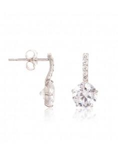 Boucle D'Oreilles Instant d'or blanche Perle Blanche Or Jaune 375/1000 Perle et Zirconium