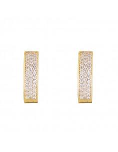 Boucle D'Oreilles Instant d'or buena Noche Or Blanc 375/1000 Zirconium