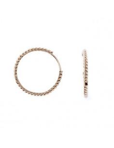 Boucle D'Oreilles Instant d'or bulles De Crystal Or Jaune 375/1000 Zirconium